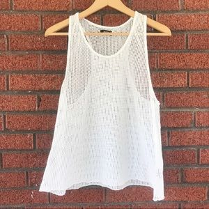 White BDG Urban Outfitters Mesh Tank Top